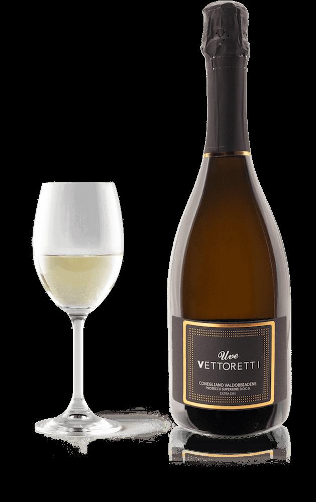 Conegliano Valdobbiadene Prosecco D.O.C.G. | Extra Dry with glass